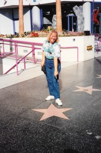 I found my star on Hollywood Boulevard!